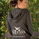 JUSTICE AND SOUL Hoodie with Silver Logo Medium