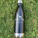 JUSTICE AND SOUL Stainless Steel Thermal Water Bottle - Black Matte 17 Fl. Oz.